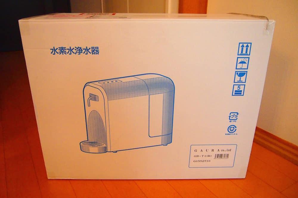 浄水機能付きだからか、箱には「水素水浄水器」と表示されています。